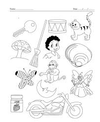 color the picture which end with letter y printable coloring worksheet