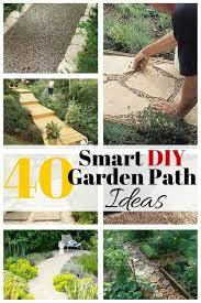 40 smart diy garden path ideas the budget diet