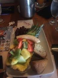 fruit plate with banana bread picture of kona cafe orlando