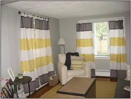 accessories striped pattern yellow and gray fabric curtain