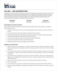 Bank Teller Resume Examples No Experience Resume Job Duties Examples Examples Of Resumes Job Resume Retail
