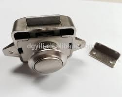 caravan motorhome push button catch door cupboard lock nickel