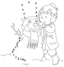 making snowman in winter coloring pages printables winter