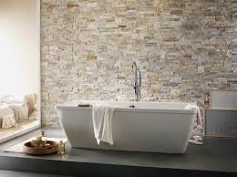 tapisserie salle a manger papier peint salle de bain harmonie avec carrelage pierre