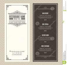 restaurant or cafe menu design template with vintage retro art