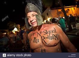 costumed revelers during fantasy fest halloween parade in key west