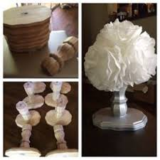 Topiaries Wedding - table leg coffee filter topiaries wedding decorations on a