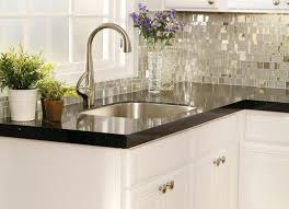 Glass Tiles For Kitchen Backsplash Kitchen Interesting Small Kitchen Decoration Using Black Glass