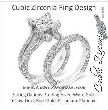 cubic zirconia wedding sets cz bridal sets cubic zirconia cz
