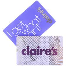 claires gift card s accessories gift card gift vouchers