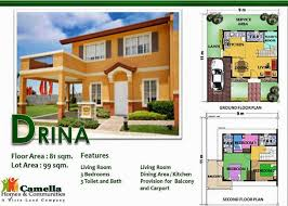 Great Floor Plans For Homes Great Camella Homes Drina Floor Plan New Home Plans Design