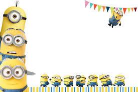 Birthday Invitation Card Template Minion Birthday Invitation Kawaiitheo Com