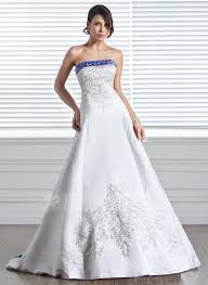 wedding dresses in a line princess strapless court satin wedding dress with