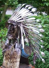 Old West Home Decor Native American Indian Style Metal Feathers Steel Wall Art