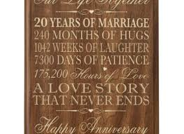 20 year anniversary gifts for gifts for 20 year wedding anniversary image collections wedding