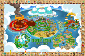 Super Mario World Map by The Ultimate Map To The Entire Mushroom Kingdom Gamesbeat
