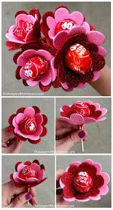 flowers made from suckers valentine treat valentines day