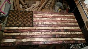 wooden american flag wall buy a handmade rustic distressed wood american flag made to order