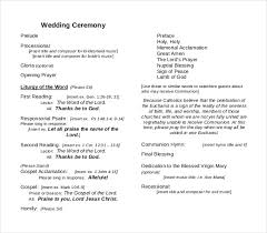 wedding ceremony program template word 29 images of wedding ceremony template word infovia net