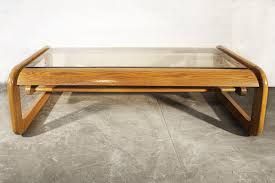 mid century oak and glass coffee table by hodges rehab