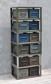 two drawer industrial metal modular drawer unit