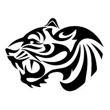 25 4 19cm fashion vinyl decal tribal tiger car