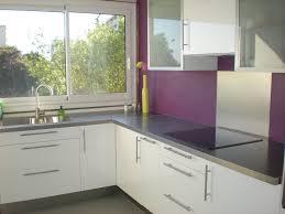 cuisine mur aubergine cuisine blanche mur aubergine charmant plan de travail couleur