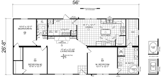 Floor Plans For Mobile Homes Double Wide Hamlin 28 X 56 1493 Sqft Mobile Home Factory Expo Home Centers