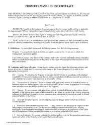 Property Manager Duties For Resume Property Management Contract For Managers Ez Landlord Forms