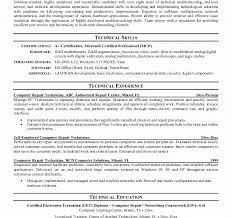 Electronics Technician Resume Samples by Create My Cover Letter Computer Technician Resume Sample It
