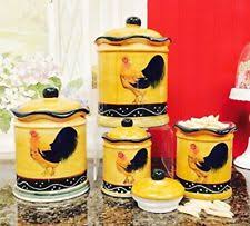 tuscan canisters kitchen ack ceramic kitchen canister sets ebay