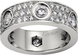 cartier diamond rings images Crn4210400 love ring diamond paved white gold diamonds cartier png