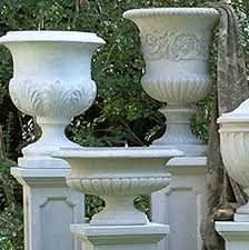 Stone Urn Planter by Oval Urn Planters Fine Cast Stone Urns Jardinieres