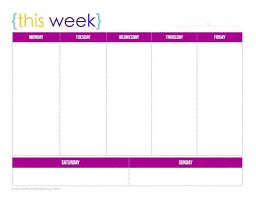 5 day work week blank calendar 5 day