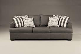 Memory Foam Sofa Sleeper Levon Charcoal Queen Sofa Sleeper With Memory Foam Mattress By