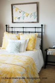 gray and yellow bedroom house living room design
