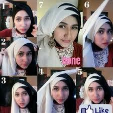 tutorial hijab pesta 2 kerudung cara berhijab paris dua warna untuk pesta remaja update remaja