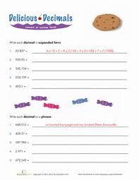 expanded form decimals worksheet education com