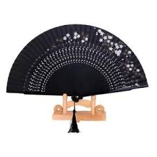 held folding fans black japanese held folding fans wedding favours hen