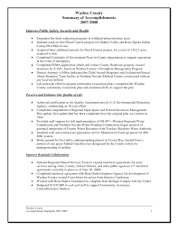 Sample Resume Accomplishments by Resume Accomplishment Examples Resume For Your Job Application