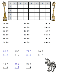free multiplication worksheet packet focusing on 3s and 4s easy