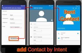 android intent exle android studio add contact using android intent codedocu