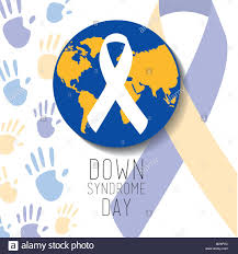 blue and yellow ribbon day blue and yellow world ribbon stock vector
