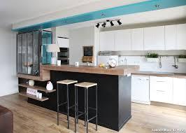 cuisine blanc et cuisine noir bois top design decoration cuisine bois noir