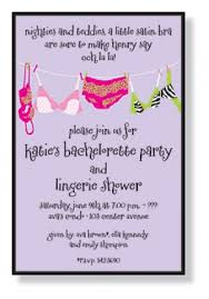 Lingerie Party Invitations Bachelorette Party Invitations