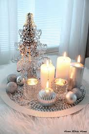 Christmas Table Decorations Fancy Silver And White Christmas Table Decorations 28 For Your