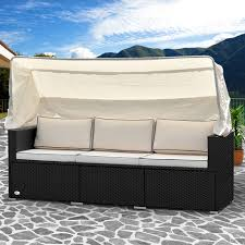 canape de jardin lounge canapé de jardin avec toit pare soleil salon de jardin