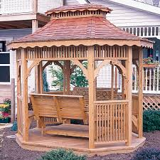 Small Patio Gazebo by Amish Victorian Small Wood Teahouse With Swing Garden Or Patio