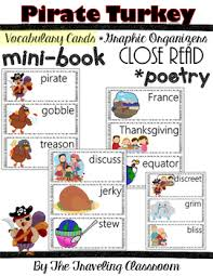 pirate turkey reading mini book poetry by the