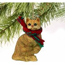 1 x silver shorthaired tabby cat ornament by